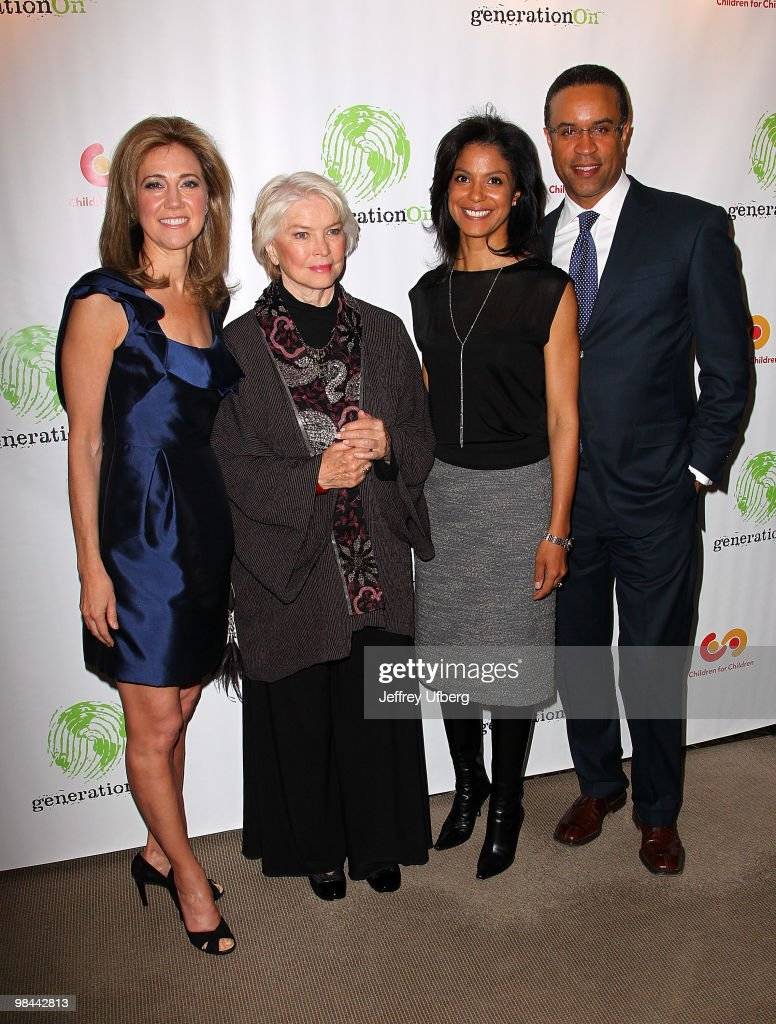 Silda Spitzer, Actress Ellen Burstyn, Andrea DuBois and Television personality Maurice DuBois attend the 9th annual The Art Of Giving benefit by Children For Children at Christie's on April 13, 2010 in New York City.