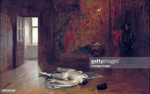 'Silenced' 1908 scene of a murdered man sprawled on the floor of a room with the attackers standing in one corner