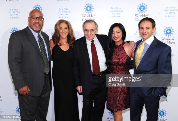 Silene St Bernard Harry Leibowitz Eva Wen and Craig Leibowitz attend World of Children Awards 2017 at 583 Park Avenue on November 2 2017 in New York...
