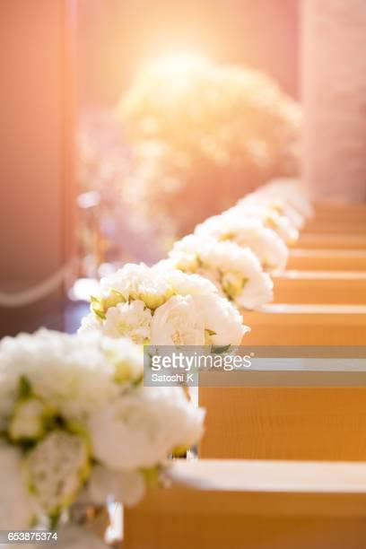 silent chapel before the wedding - chapel stock pictures, royalty-free photos & images
