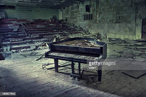 silent concert - chernobyl stock pictures, royalty-free photos & images