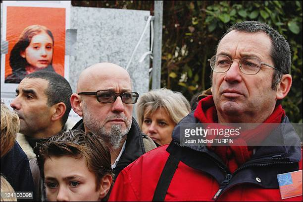 Silent march in Guermantes to commemorate the disappearance of young Estelle Mouzin, who went missing one year ago, France On January 10, 2004 -...