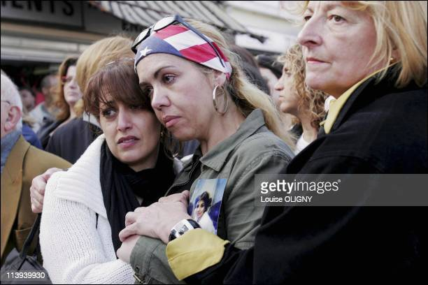 Silent march in honor of the women killed by their husbands In Rosny Sous Bois Seine Saint Denis France On April 01 2005March of the inhabitants of...