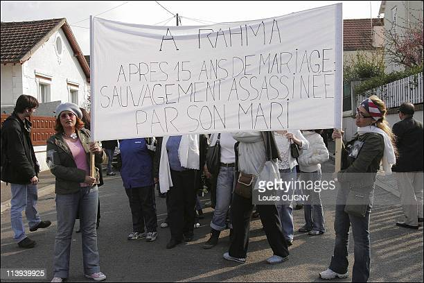 Silent march in honor of the women killed by their husbands In Villemomble Seine Saint Denis France On April 01 2005March of the inhabitants of...