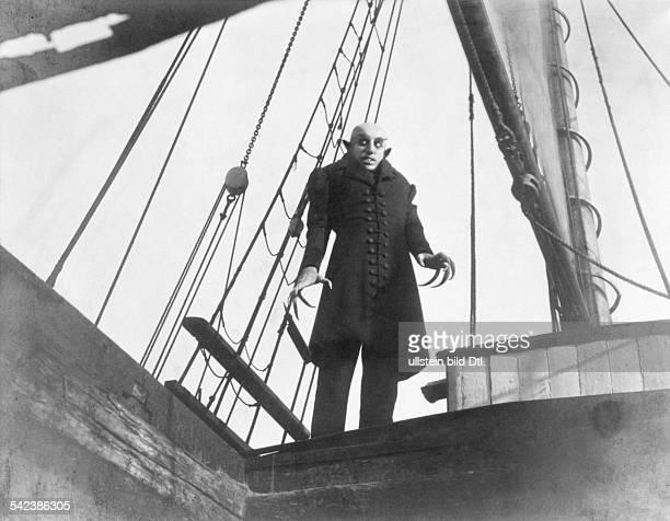 Silent movie 'Nosferatu' directed by Friedrich Wilhelm Murnau Max Schreck starring as Nosferatu Germany 1921