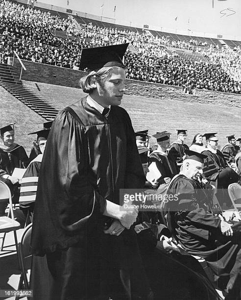 JUN 6 1969 Silent Protest During CU Ceremony Steve Kramer president of the senior class at the University of Colorado was among about 45 students and...
