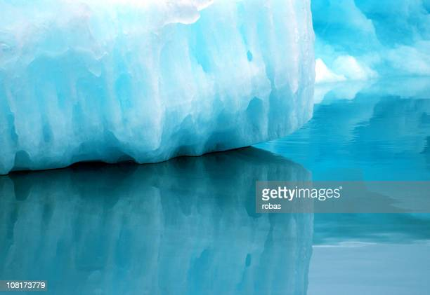 Silent reflejos del iceberg en Groenlandia