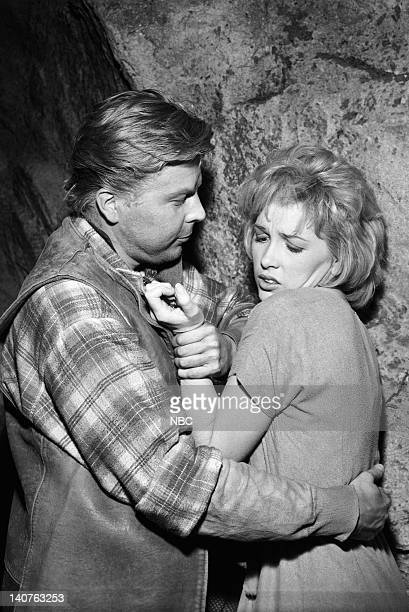 BONANZA Silent Thunder Episode 13 Pictured Albert Salmi as Albie Stella Stevens as Ann 'Annie' Croft Photo by NBC/NBCU Photo Bank