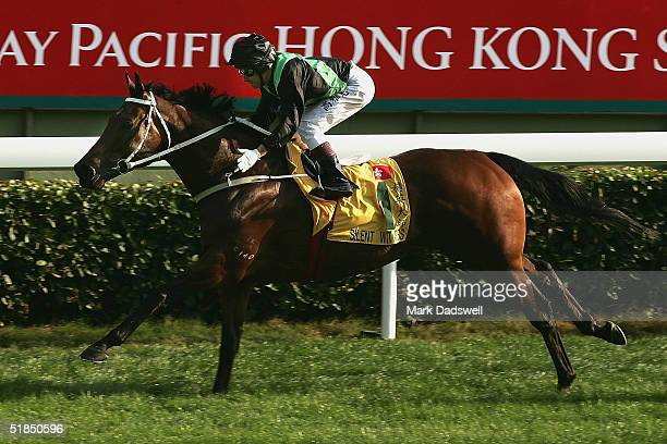 Silent Witness ridden by Felix Coetzee wins the Cathay Pacific Hong Kong Sprint during the Cathay Pacific Hong Kong International Races at Sha Tin...