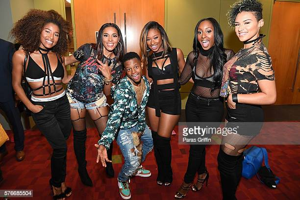 Silento with Shyann Roberts, Gabby Carreiro, Brienna DeVlugt, Ashly Williams, Kristal Lyndriette of of June's Diary attend V-103 Car & Bike Show at...