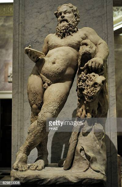 Silenus Satyr companion and tutor to the wine god Dionysus Roman work Marble The State Hermitage Museum Saint Petersburg Russia