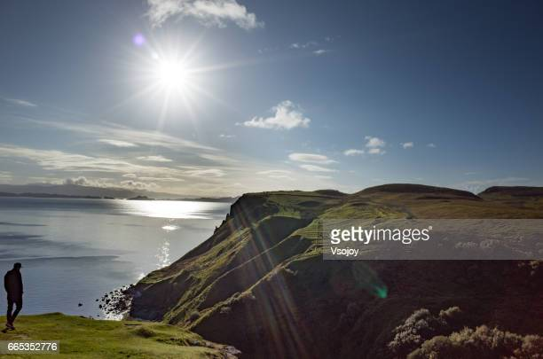 Silhouette and the sunlight, Ellishader, Isle of Skye, Scotland