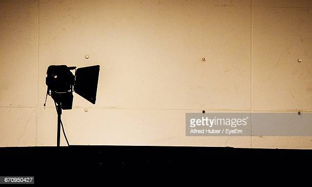 Silhouette Camera In Studio