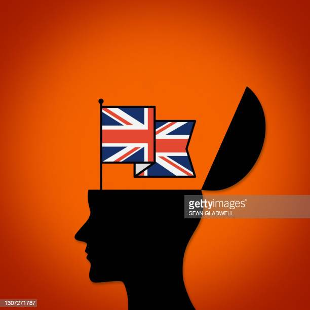 uk silhouette flag head - political party stock pictures, royalty-free photos & images