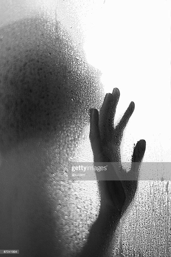 Silhouette hand  : Stock Photo