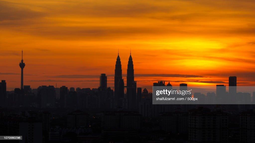 silhouette @ KL : Stock Photo