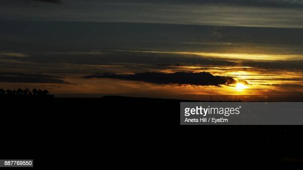 silhouette landscape against sunset - aneta eyeem stock pictures, royalty-free photos & images