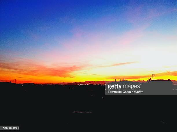 Silhouette Landscape At Sunset