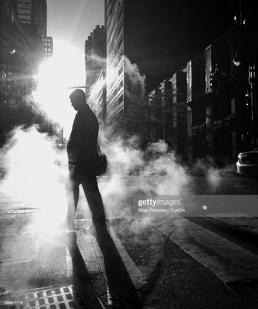 People Walking On City Street High-Res Stock Photo - Getty ...  |Person Walking City