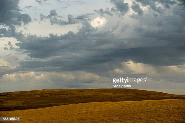 A silhouette of a cowboy in a horse sits on a horizon near Alexander ND Sept 22 2013 The town of Alexander sits near the center of the bakken shale...