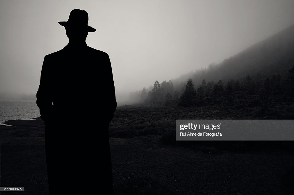Silhouette of a man : Stock Photo