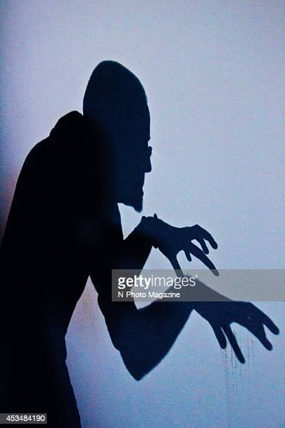 Silhouette of a Nosferatustyle vampire against a white background on November 4 2013