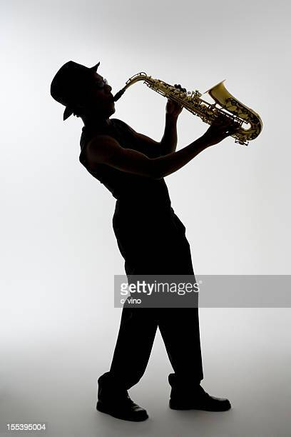 Silhouette of a Saxophonist