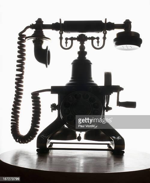 Silhouette of Antique Phone
