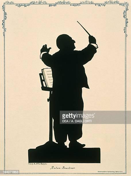 Silhouette of Anton Bruckner Austrian composer Vienna Historisches Museum Der Stadt Wien