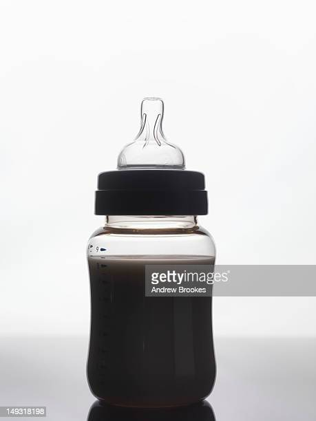 Silhouette of baby bottle