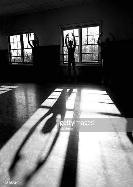 Silhouette of Ballet Dancers and the Shadows