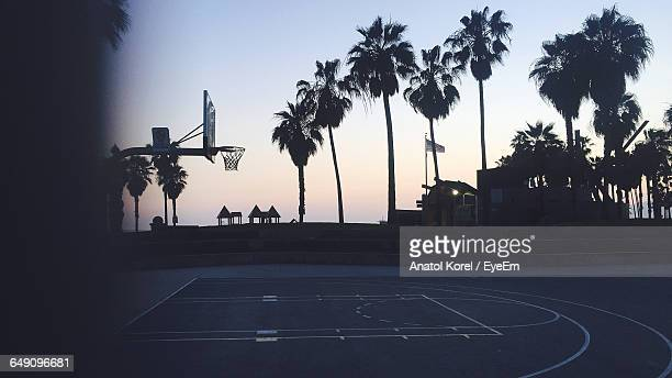 Silhouette Of Basketball Court
