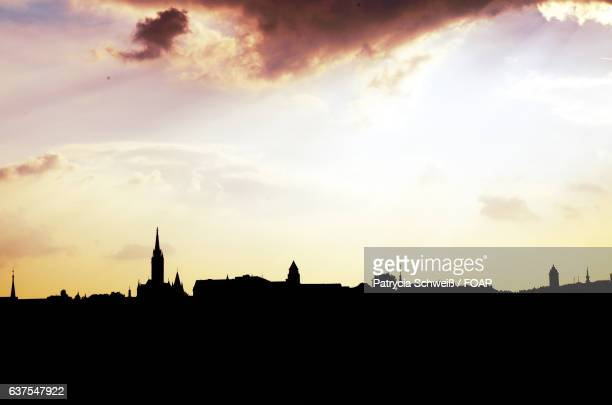 Silhouette of Budapest skyline