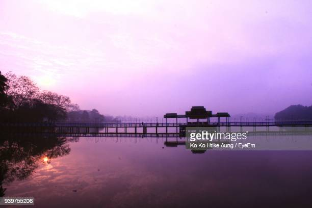 silhouette of building at sunset - ko ko htike aung stock pictures, royalty-free photos & images