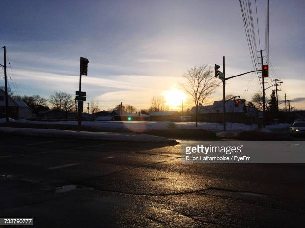 silhouette of city during winter - sudbury canada stock photos and pictures
