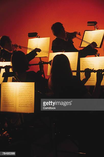 Silhouette of classical orchestra