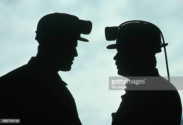 Silhouette of Coal Miners