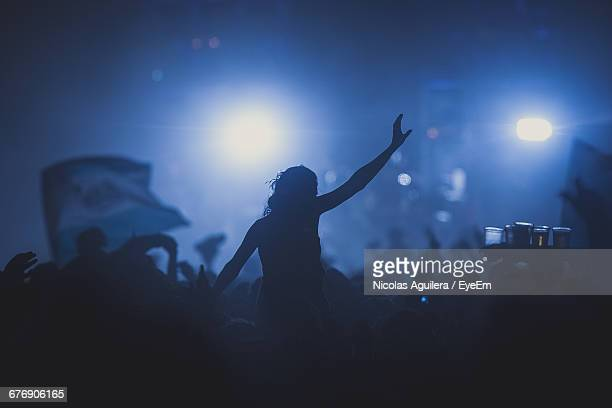Silhouette Of Crowd At Music Festival