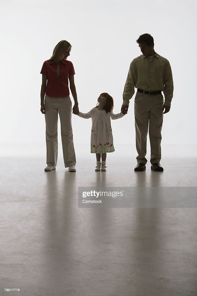 Silhouette of family : Stock Photo