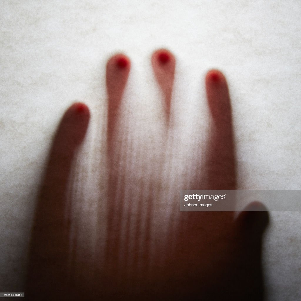 Silhouette of hand : Stock Photo