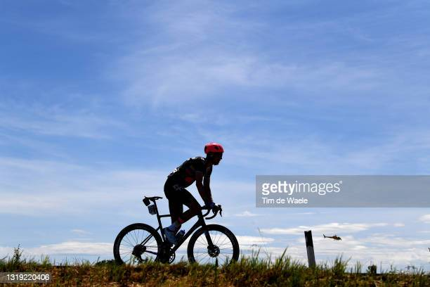 Silhouette of Jens Keukeleire of Belgium and Team EF Education - Nippo during the 104th Giro d'Italia 2021, Stage 13 a 198km stage from Ravenna to...