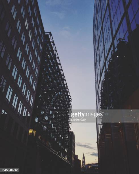 Silhouette of London architecture at dusk