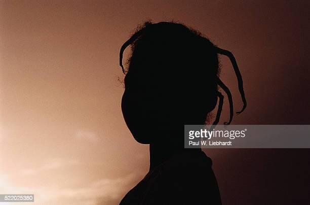 Silhouette of Malian Girl