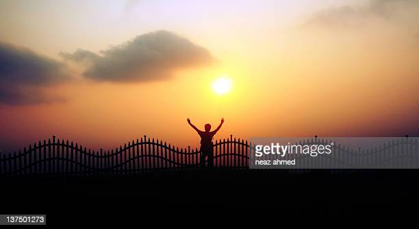 World S Best Guy Alone Watching Sunset Stock Pictures