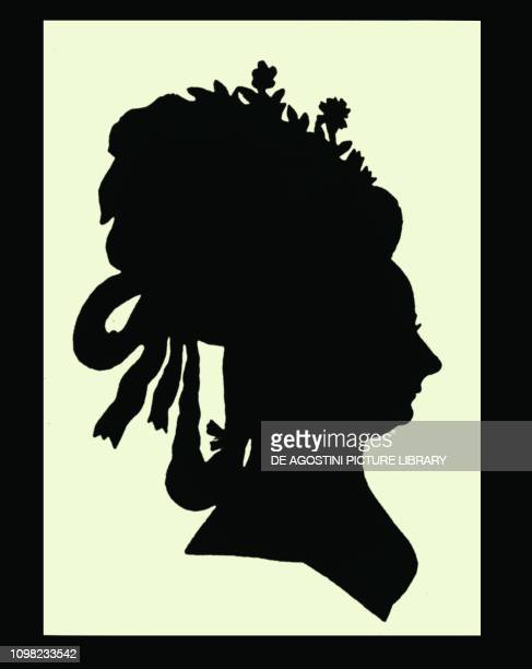 Silhouette of Maria Wilhelmine von ThunHohenstein's face Austrian Countess