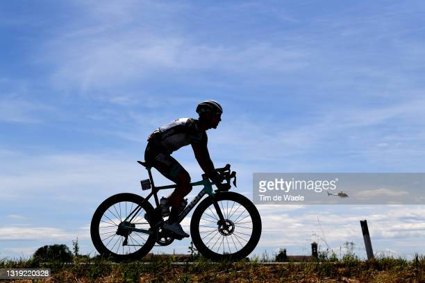 Silhouette of Mikel Nieve Ituralde of Spain and Team BikeExchange during the 104th Giro d'Italia 2021, Stage 13 a 198km stage from Ravenna to Verona...