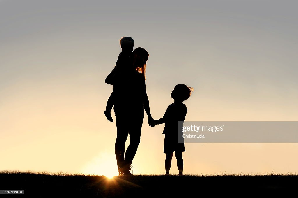 Image result for mother with kids shadow
