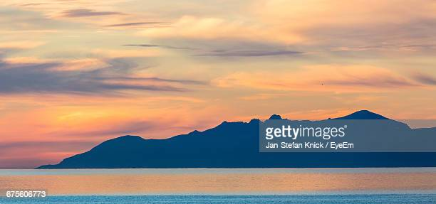 Silhouette Of Mountain With Sky In Background