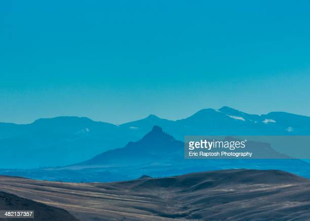 Silhouette of mountains, Browning, Montana, United States