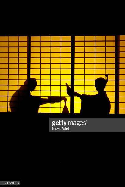 Silhouette of samurais